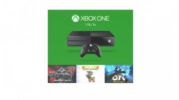 Игровая приставка Microsoft Xbox One 1Tb Rus Black (Черный) + Gears of War: Ultimate Edition + Rare Replay + Ori and the Blind Forrest Microsoft Xbox One